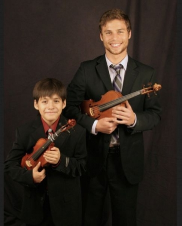 With one of my wonderful violin students.