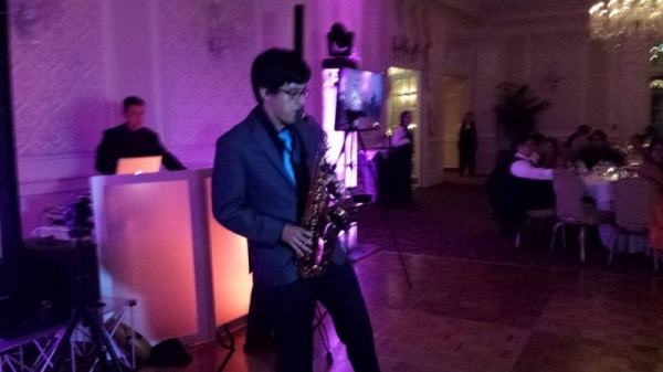 Not only was i the DJ but i added extra flare to this wedding