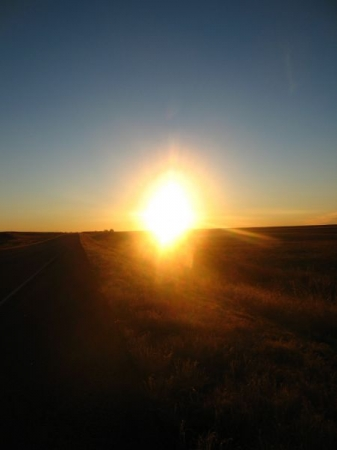Sunrise in the plains. Photo by Janet S. - W. c 2018