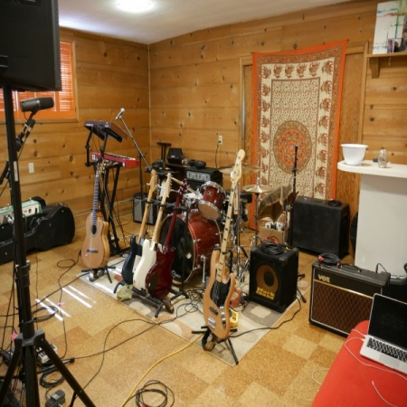 My studio where I practice, songwrite, record, and teach