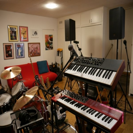 Where I record and playback music. I also use the keys for singing exercises