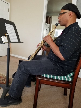 Samuel chose the soprano sax, the most difficult of all saxes