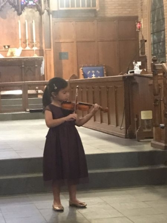 Brielle performing May Song by Suzuki