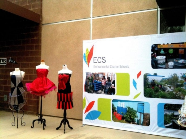 Intermediate: 3 dresses that were designed, created and sewn by high school students at Environmental Charter High School