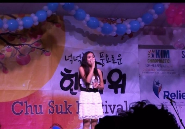 "Korean Thanksgiving Festival Talent Contest, September 2017, 2nd place for song, ""Heaven"" by Ailee"