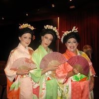 """Performing at the """"Pageant of the Masters"""" in Laguna Beach CA."""