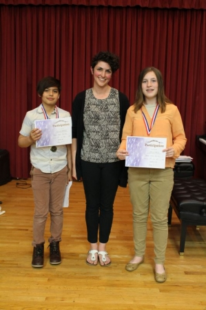 Nicolas & Isabella receive awards for their participation in the Royal Conservatory of Music exams in May 2018.