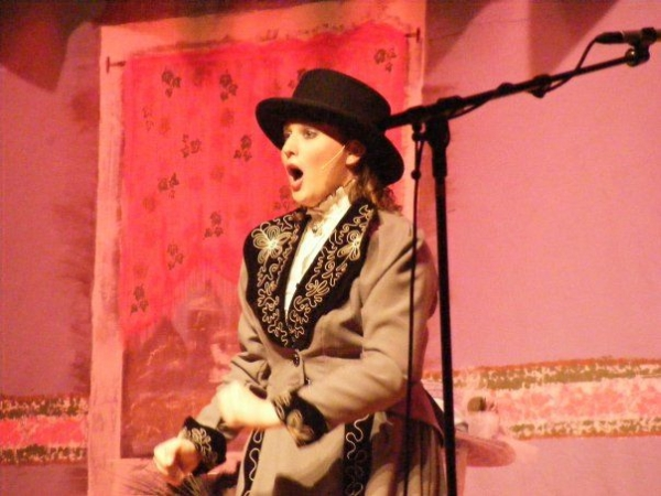 "Performing as Dolly in, ""Hello Dolly"""