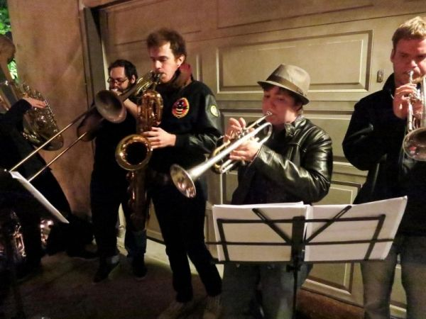 "Rocking out with our old Gypsy band, ""The Eros Orchestra"""