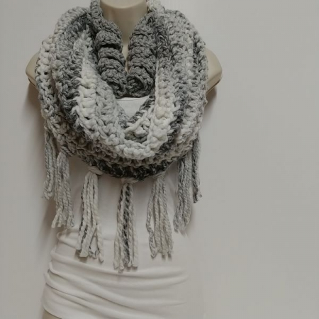 Hand made cowl & matching earrings