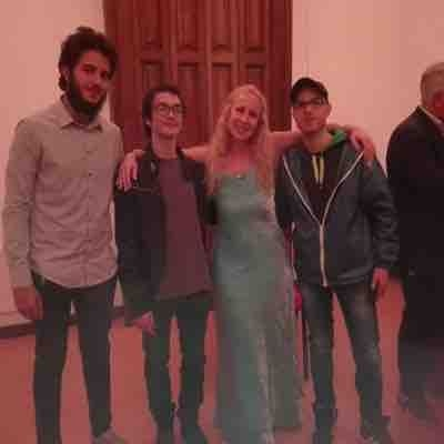 With wonderful students after a concert in Viggiano Italy May 27th 2018