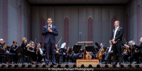 Saad Haddad with the Columbus Symphony Orchestra.