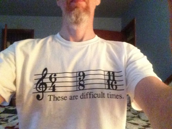 A little musical humor and my new favorite shirt.