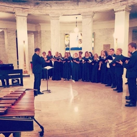 Performing with the WVSU Choir at the Capitol
