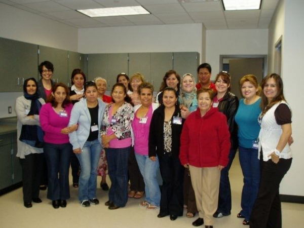With some of my students, I am first in the back row, left to right. 