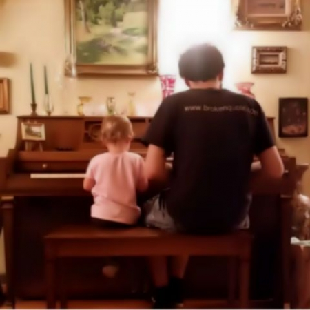 Its inspiring how music can hold a child's attention.  I'm always amazed at how good little ones are at improvisation.