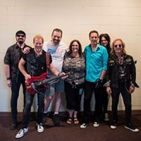 Me sitting backstage with Night Ranger
