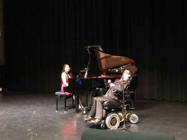 My lovely voice student, Ben, performing at the student recital!