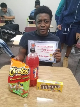 This student had difficulties passing his state exam. With hard work and a little motivation he passed his STAAR exam (required state exam)
