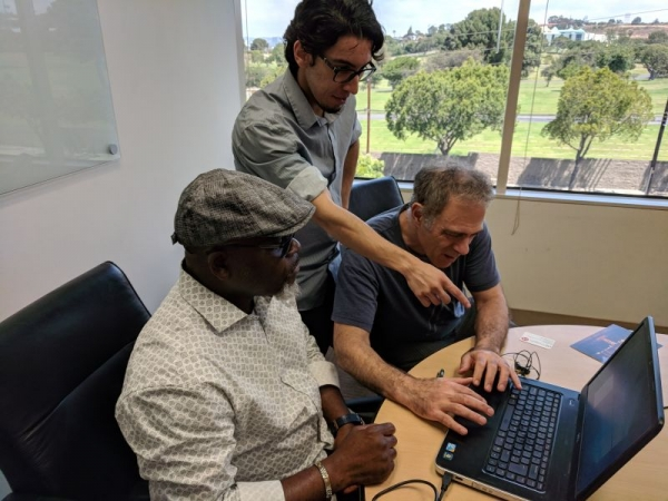 Teaching Adobe Premiere to two students