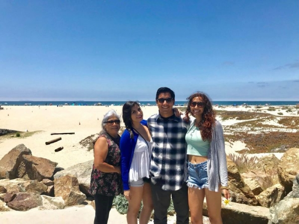 Family in San Diego