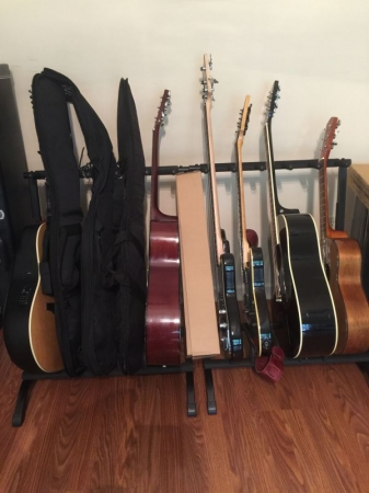 Don't have a guitar yet!  We offer acoustic and electric guitar rentals for beginners and currently enrolled students.