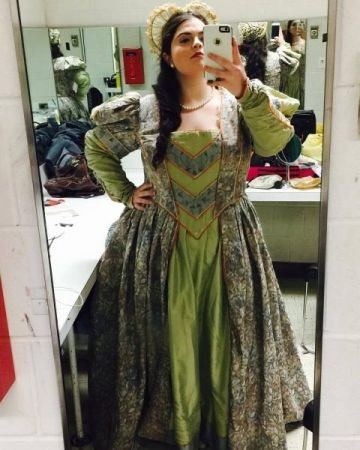 As Anne Page in Vaughan Williams' Sir John in Love, Bronx Opera (backstage)