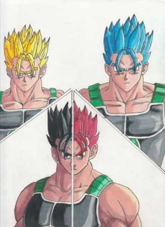 A character I designed for DBZ. Pencil, pen, and colored pencil.
