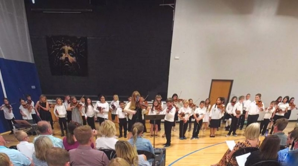 End of the year violin concert with my amazing students in Denver.