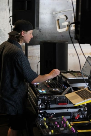 DJing at Gate City Brewing recently