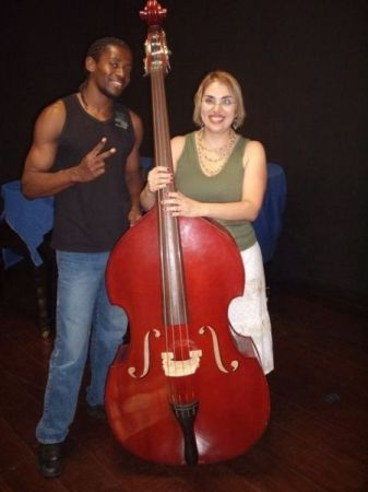 With student at the Conservatory of Guarulhos, Sao Paulo, Brazil.