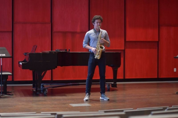Masterclass over Jacques Ibert's Concertino da Camera with Dr. Clifford Leaman at the University of Iowa.