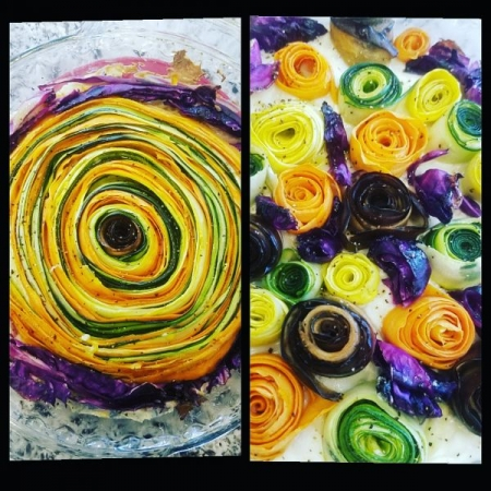 Vegetable rose pie