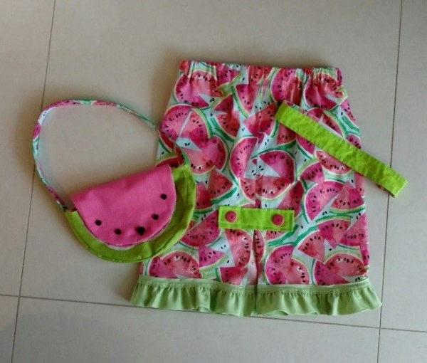 Skirt, purse and headband by 8 year old student