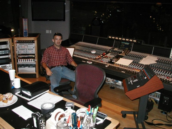 Recording some of my music at the Skywalker Ranch in Marin county, CA.
