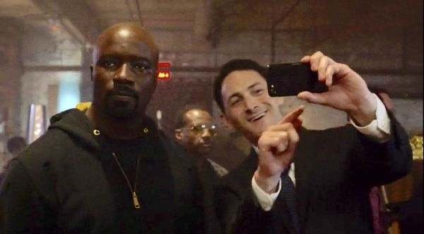 "On set with ""Luke Cage,"" season 2, episode 5."