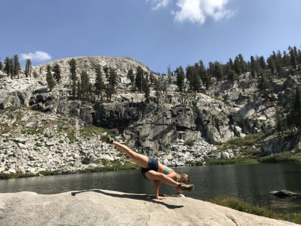 Yoga in Sequoia National Park