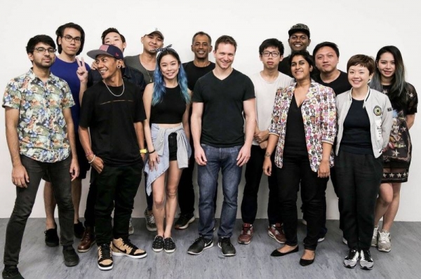 With my music production students, after a week of workshops in Singapore.