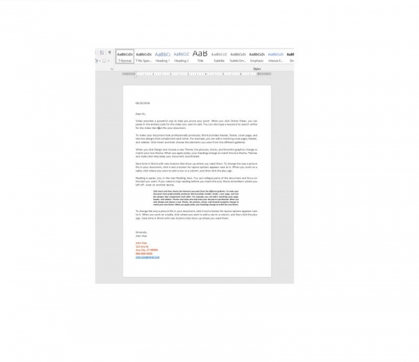 Microsoft Word Project