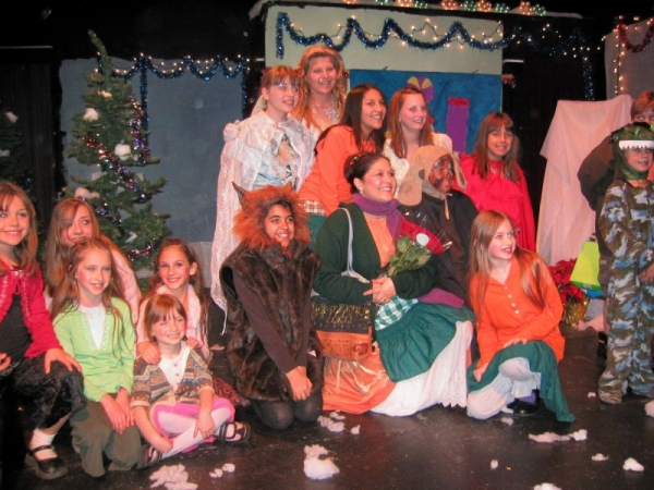 "Cast of our Theatre Creators Kids production from our North Hollywood days, ""Mother Hubbard's Winter Wish."""