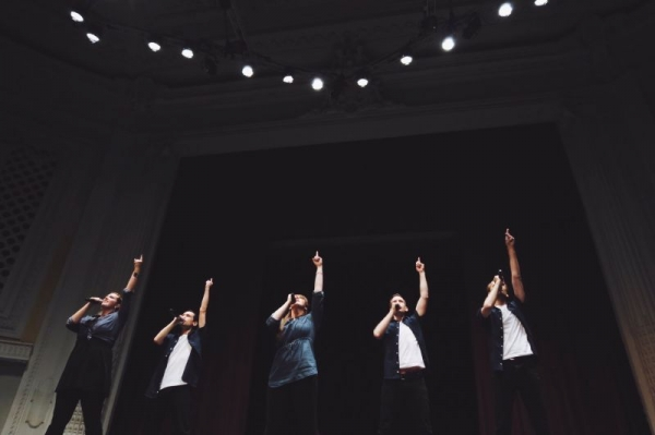 A performance with The Unknown Element in Tacoma, Washington.