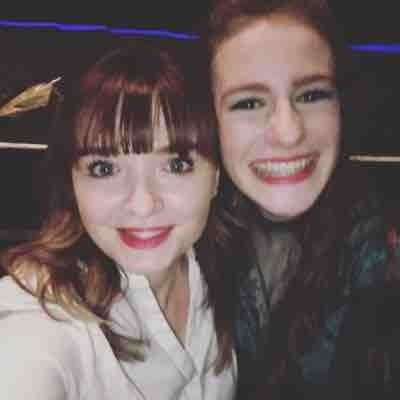"""Me with student Lizzie Mowry after her performance of Rusty in """"Footloose"""""""