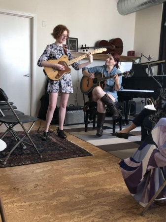 Accompanying my students at my 2018 student recital