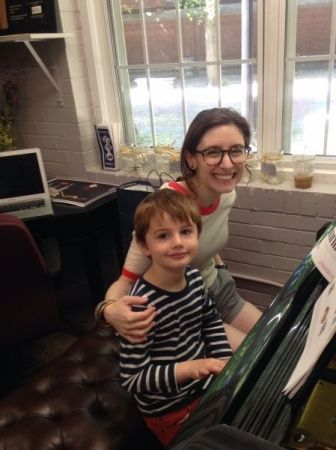 PIano lesson fun!