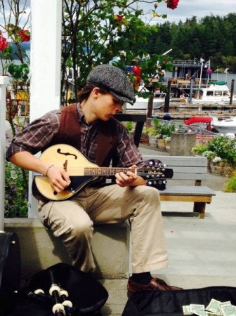 Busking at the waterfront in my home town!