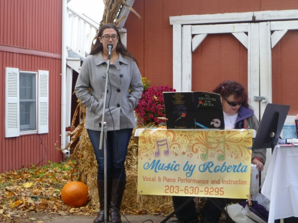 Music by Roberta Studio performing at a fall fair at a local orchard/farm