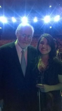 With maestro John Williams, Los Angeles, CA, 2017.