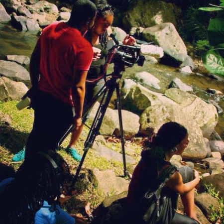 Filming a reality show in Grenada for Campari