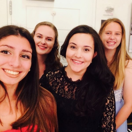 Backstage at Carnegie Hall before the recital!