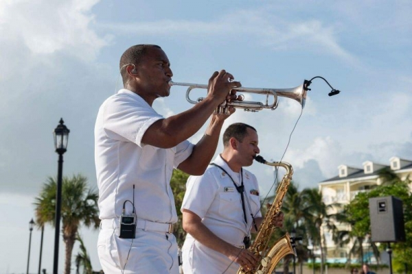 Performing in Key West, Florida with the Navy Band Cruisers